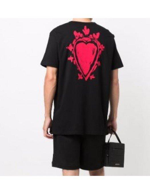 Tricou ALEXANDER MCQUEEN,Red Print - 666611QRZ900901