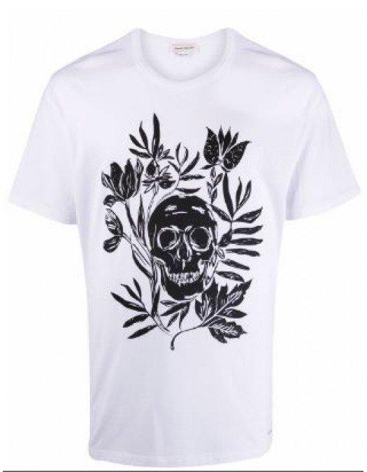 Tricou ALEXANDER MCQUEEN, Black Print - 666616QRZ940900
