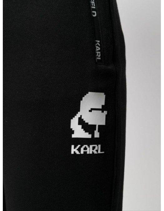 PANTALON KARL LAGERFELD, Bumbac, Logo alb - 705005511900990