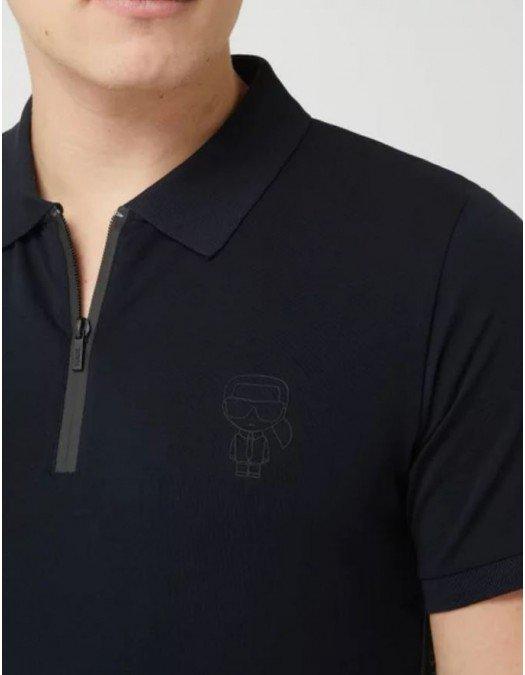 Tricou Karl Lagerfeld, Negru, Logo Frontal - 745020511221990