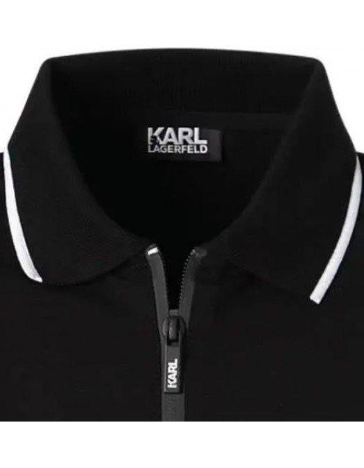 Tricou Karl Lagerfeld, Negru, Logo Frontal - 745070511221990