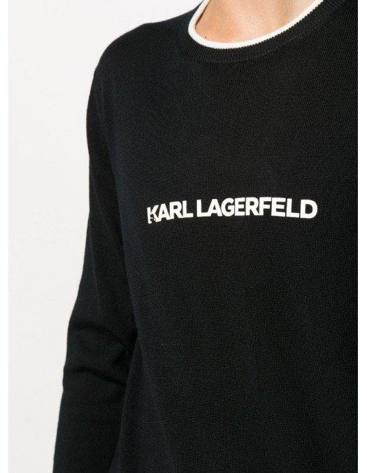 Bluza KARL LAGERFELD, Logo atasat frontal, Negru - 755021502990