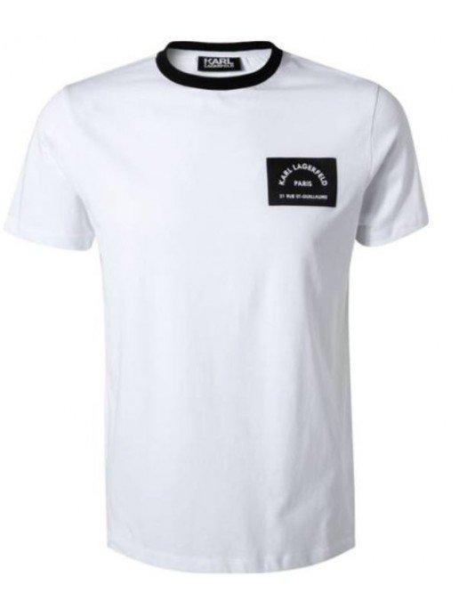Tricou Karl Lagerfeld, Alb, 21RUE ST-GUILLAUME - 75507251122410