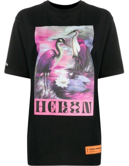 Tricou Heron Preston, Imprimeu frontal, Negru - A18R0011030W