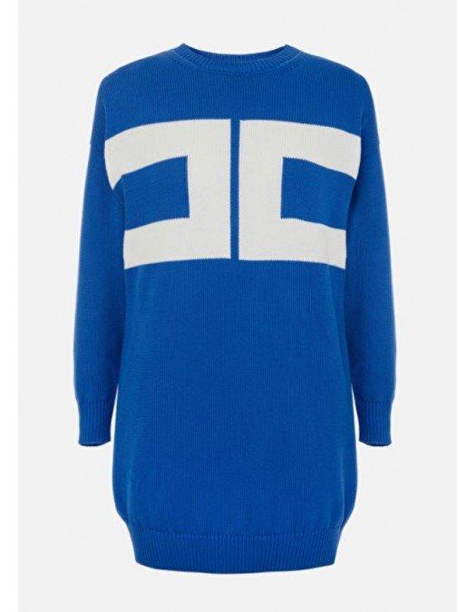 Rochie ELISABETTA FRANCHI, Oversized, Bleu - AM95T11E2Q68