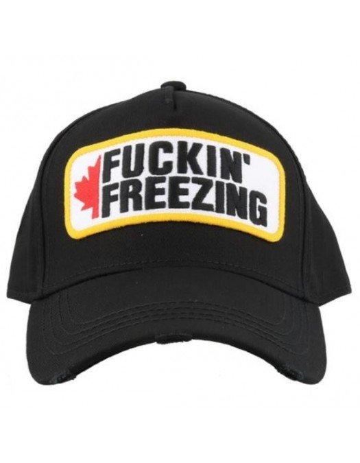 Sapca Dsquared2, Fuckin Freezing, Neagra - BCM034805C000012124