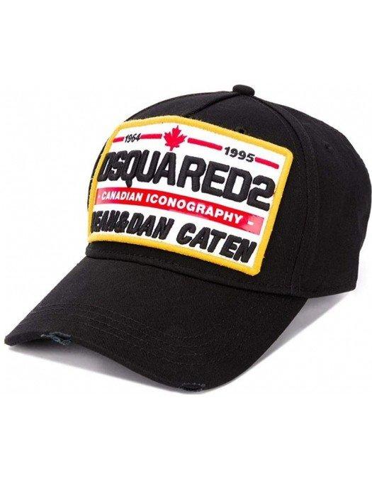 Sapca DSQUARED2, Canadian Iconography, Negru - BCM035505C000012124
