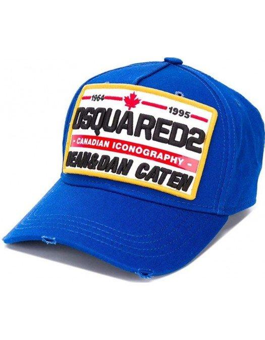 Sapca DSQUARED2, Canadian Iconography, Albastru - BCM035505C000013072