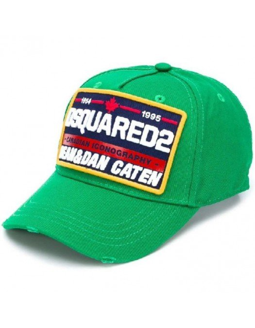 Sapca DSQUARED2, Canadian Iconography, Verde - BCM035505C000018079