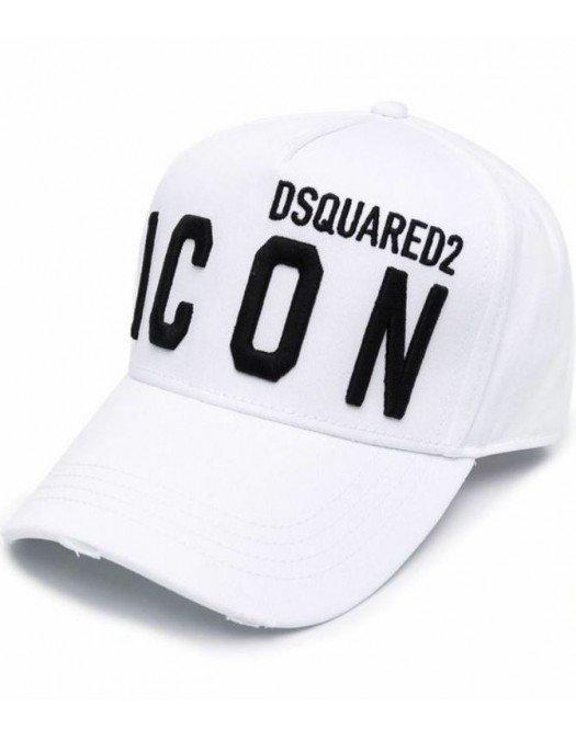 Sapca DSQUARED2, Icon, Alba - BCM0412M072