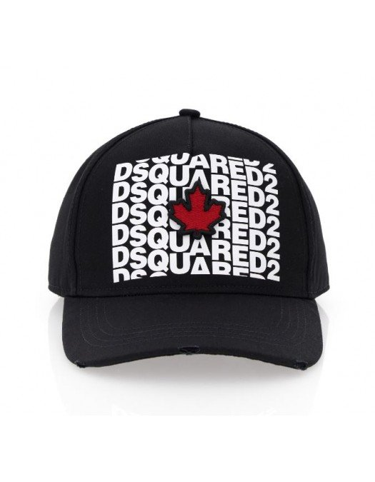 Sapca Dsquared2, Logo si frunza rosie - BCM041705C000012124