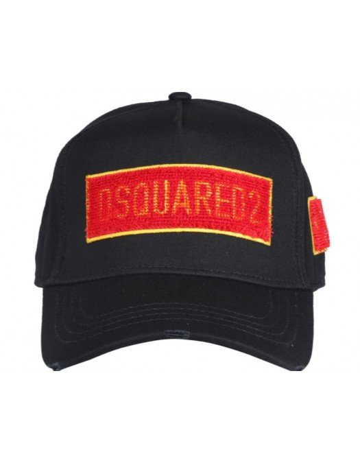 Sapca Dsquared2, Red Patch, Bumbac - BCM047705C000012124