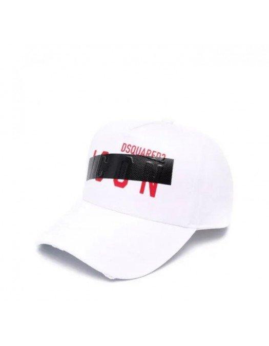 Sapca Dsquared2, Logo Tape White - BCM047805C000011062