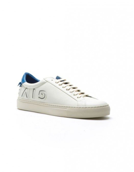 SNEAKERS GIVENCHY - white blue sneakers, Piele - BH001DH065145