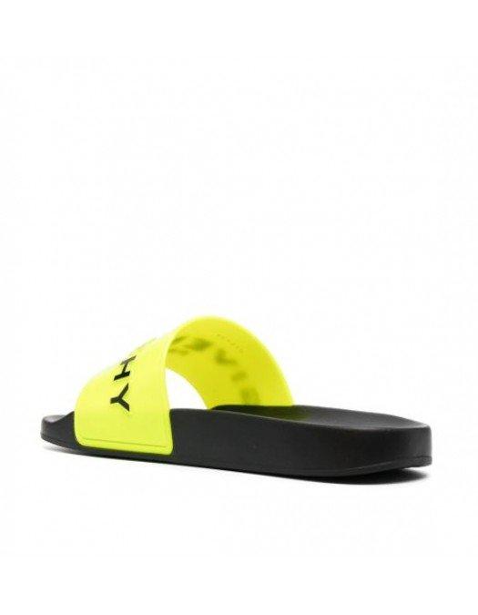 Papuci Givenchy, Galben Neon, Logo negru - BH300HH0UC734