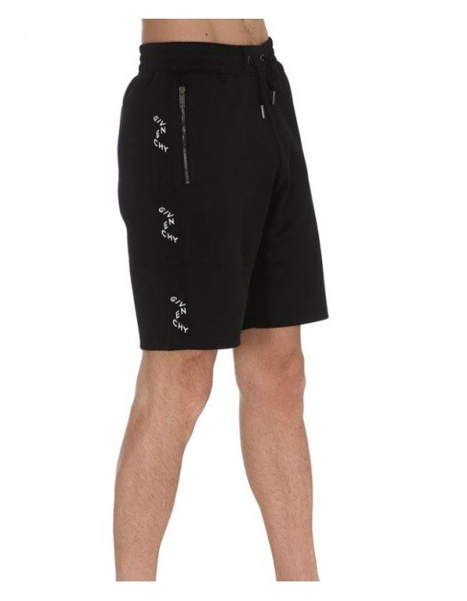 Pantaloni scurti GIVENCHY, Logo atasat lateral, Negru - BM50RZ30AE001