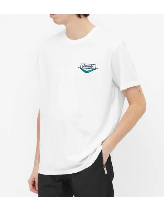 Tricou Givenchy, Imprimeu Albastru intens, Bumbac - BM711S3002001