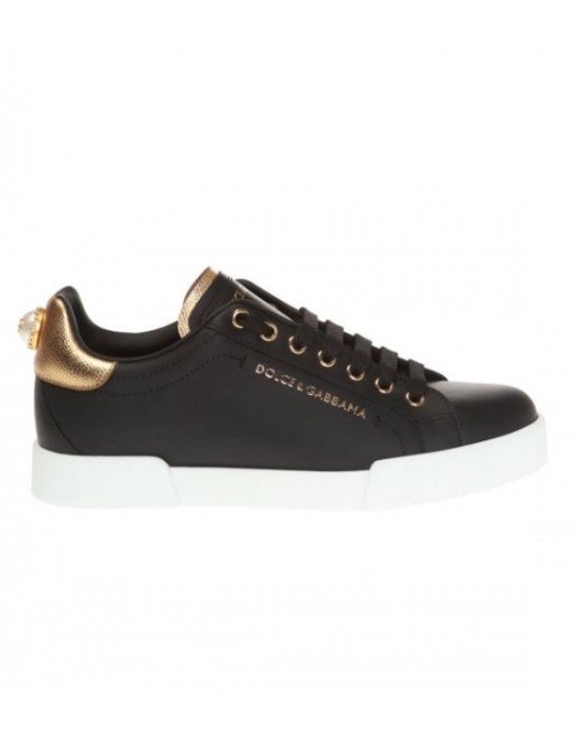 Sneakers Dolce&Gabbana, Negru, Accesorizat Logo Brand - CK16028E831