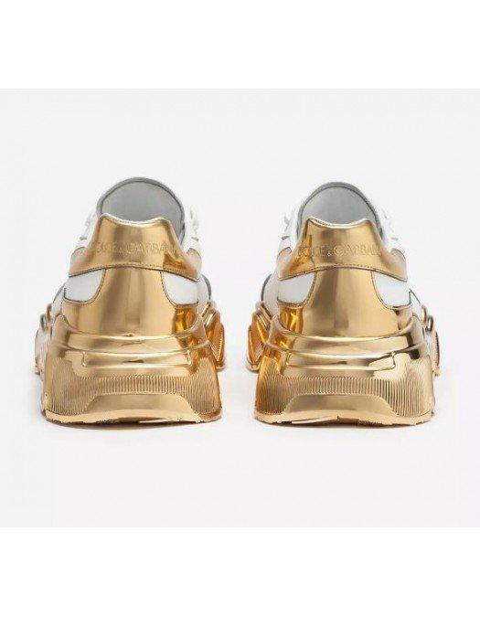 Sneakers Dolce & Gabanna, Logo Atasat, Auriu - CK79189662