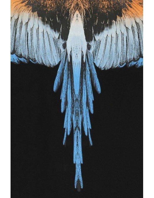 Tricou Marcelo Burlon, Wings Color Blue, Bumbac - CMAA018R21JER0011020