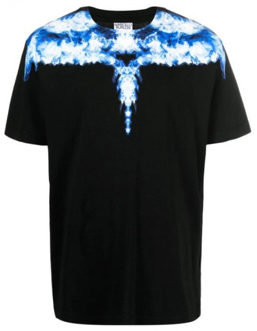 TRICOU MARCELO BURLON, Short Sleeves, Black - CMAA018R21JER0031042