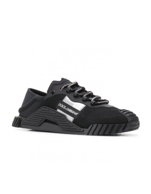 Sneakers Dolce&Gabbana, Imprimeu brand, Negru - CS17698B956