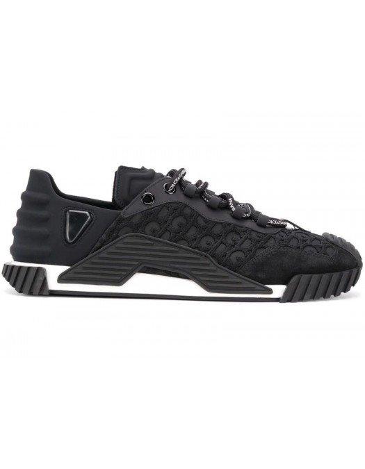 Sneakers Dolce&Gabbana, Imprimeu brand, Negru - CS18108B9564
