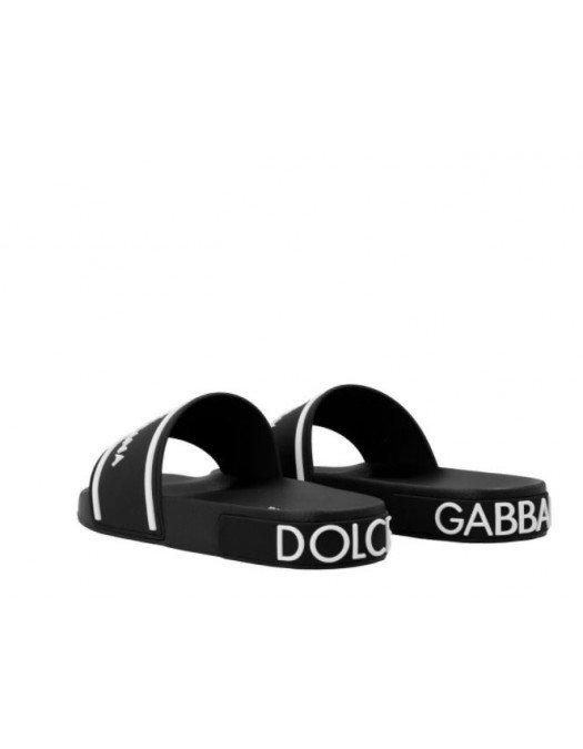 Papuci Dolce & Gabbana, Insertie Alba, Cauciuc - CS1884AO23289690