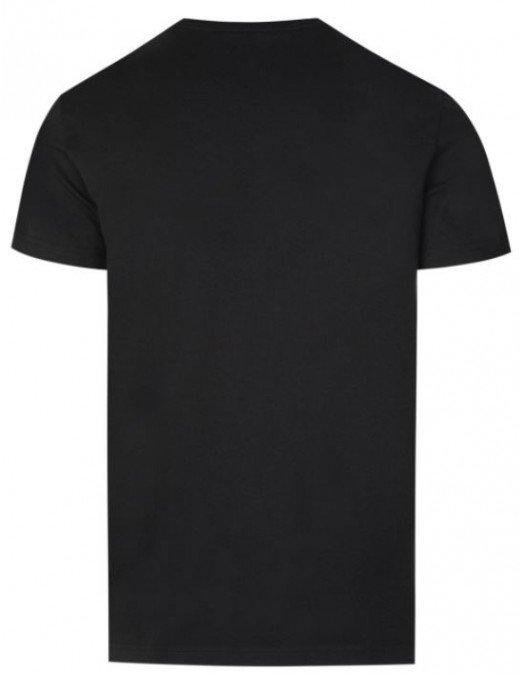 Tricou Balmain, Black, Insertie Frontala - EF000B0350PA