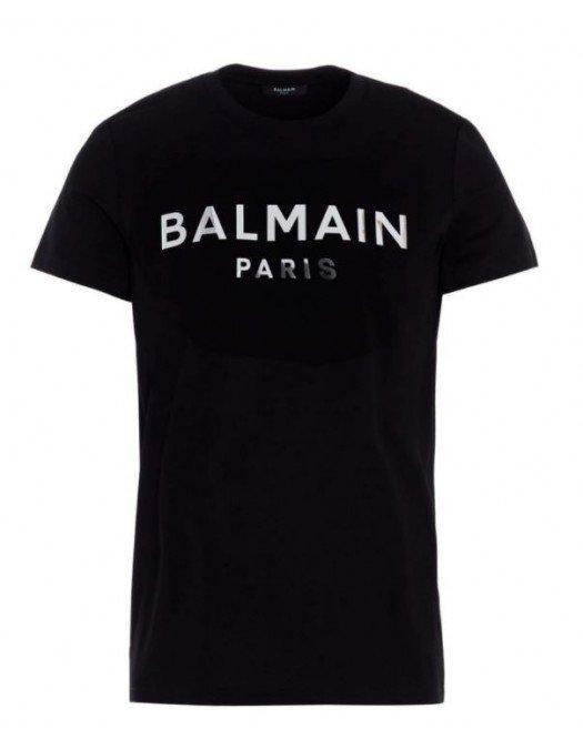 Tricou Balmain, Black, Imprimeu Frontal EF000B0660PA