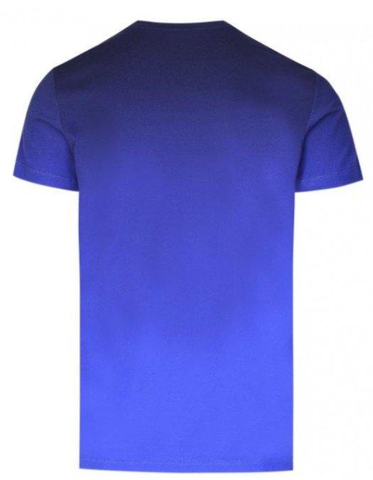 Tricou Balmain, Albastru, Imprimeu frontal - EF000G003AAA