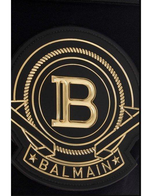 Tricou Balmain, Patch Auriu - EF007J0390PA