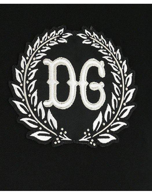 Tricou Dolce&Gabbana, Imprimeu Logo Frontal, Negru - G8KBAZN0000
