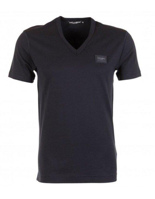 Tricou Dolce&Gabbana, Bleumarin, Logo Atasat -