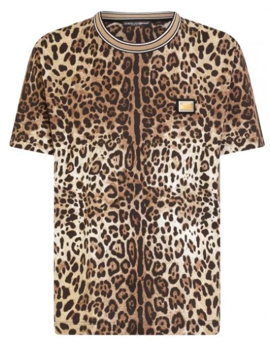 TRICOU DOLCE & GABBANA ,Leopard Print - G8MP5THS7EEHA93M