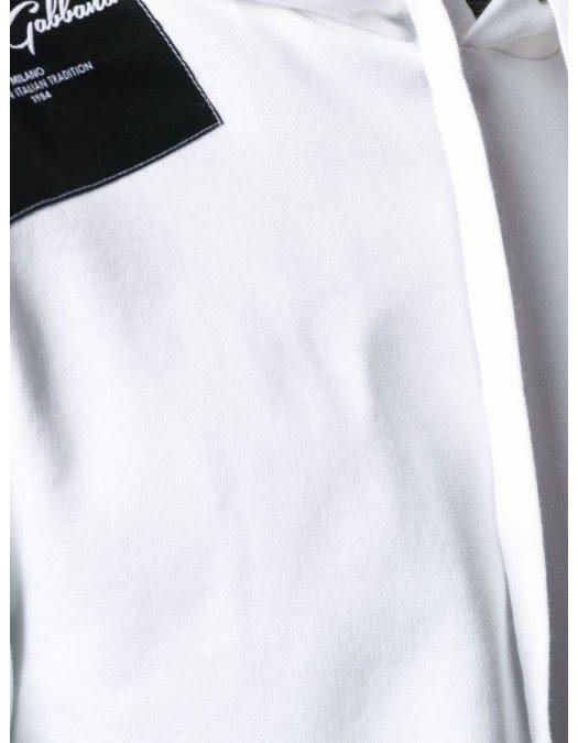 Hanorac Dolce&Gabbana, Imprimeu frontal, Alb - G9OF9ZW0800