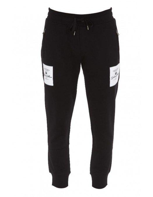 Pantalon Dolce&Gabbana, Imprimeu Logo, Negru - GYPQAZN0000
