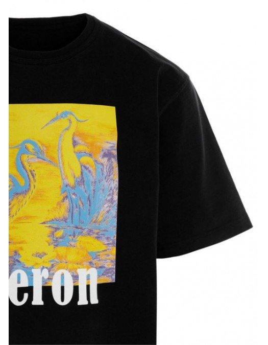 Tricou Heron Preston, Imprimeu Galben/Albastru, Bumbac - HMAA020R21JER0041016