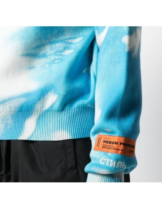 BLUZA HERON PRESTON, Blue Light, Maneci Lungi - HMHE006S21KNI0020140