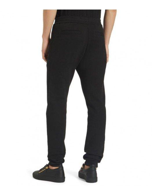 Pantaloni Giuseppe Zanotti, Negru, Logo Auriu - IRU0010001