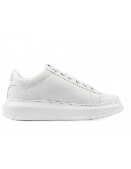 Sneakers Karl Lagerfeld, Full Alb, Piele - KL6253001W