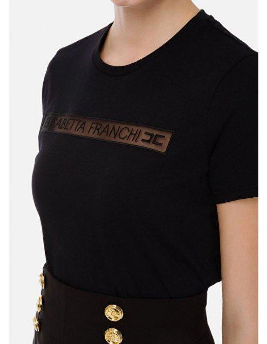 Tricou ELISABETTA FRANCHI, Broderie neagra - MA18411E2110