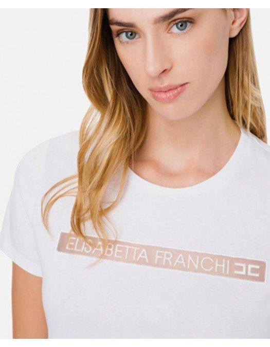 Tricou ELISABETTA FRANCHI, Broderie alba - MA18411E2360