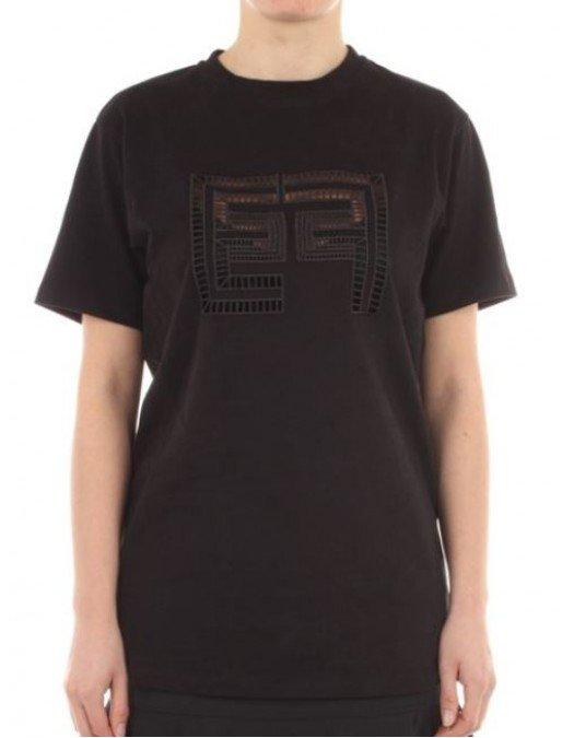 Tricou ELISABETTA FRANCHI, Cu logo perforat, Negru - MA19911E2110
