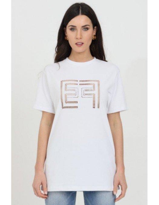 Tricou ELISABETTA FRANCHI, Imprimeu perforat, Bumbac - MA19911E2270