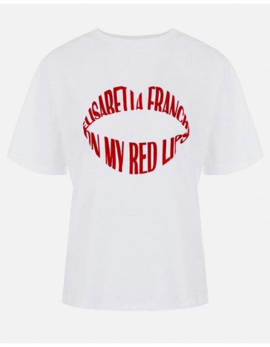 Tricou ELISABETTA FRANCHI, Red Lips - MA26N11E2270