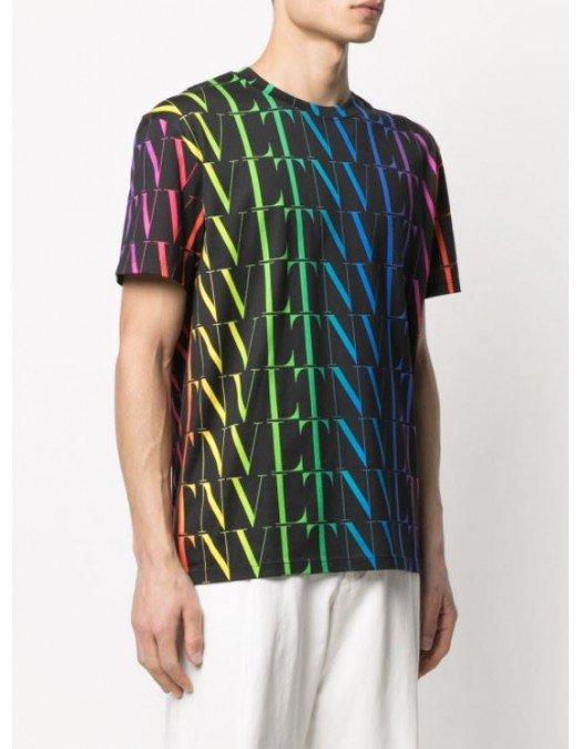 TRICOU VALENTINO, Bumbac, Imprimeu All Over Multicolor - MG08J73T20K