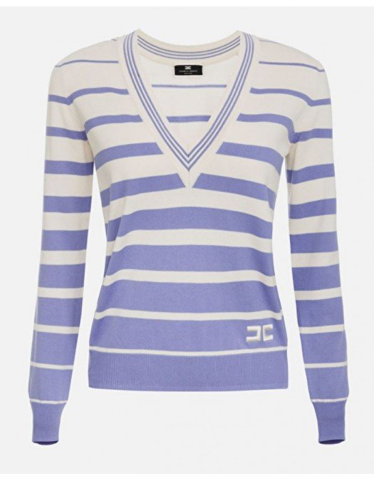 Bluza ELISABETTA FRANCHI, Bumbac, Purple - MK04T11E2Q45