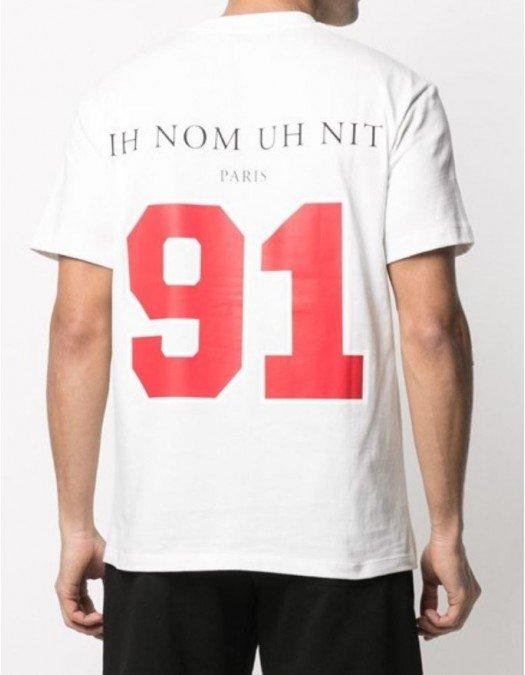 Tricou Ih Nom Uh Nit, Chicago Print, Alb - NUS21231081