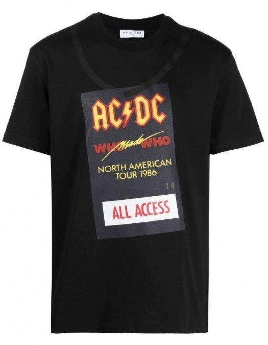 Tricou Ih Nom Uh Nit, Imprimeu ACDC, Negru - NUS21251009